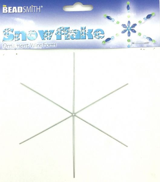 Beadsmith snowflake wire form 4.5 inches 7 pcs